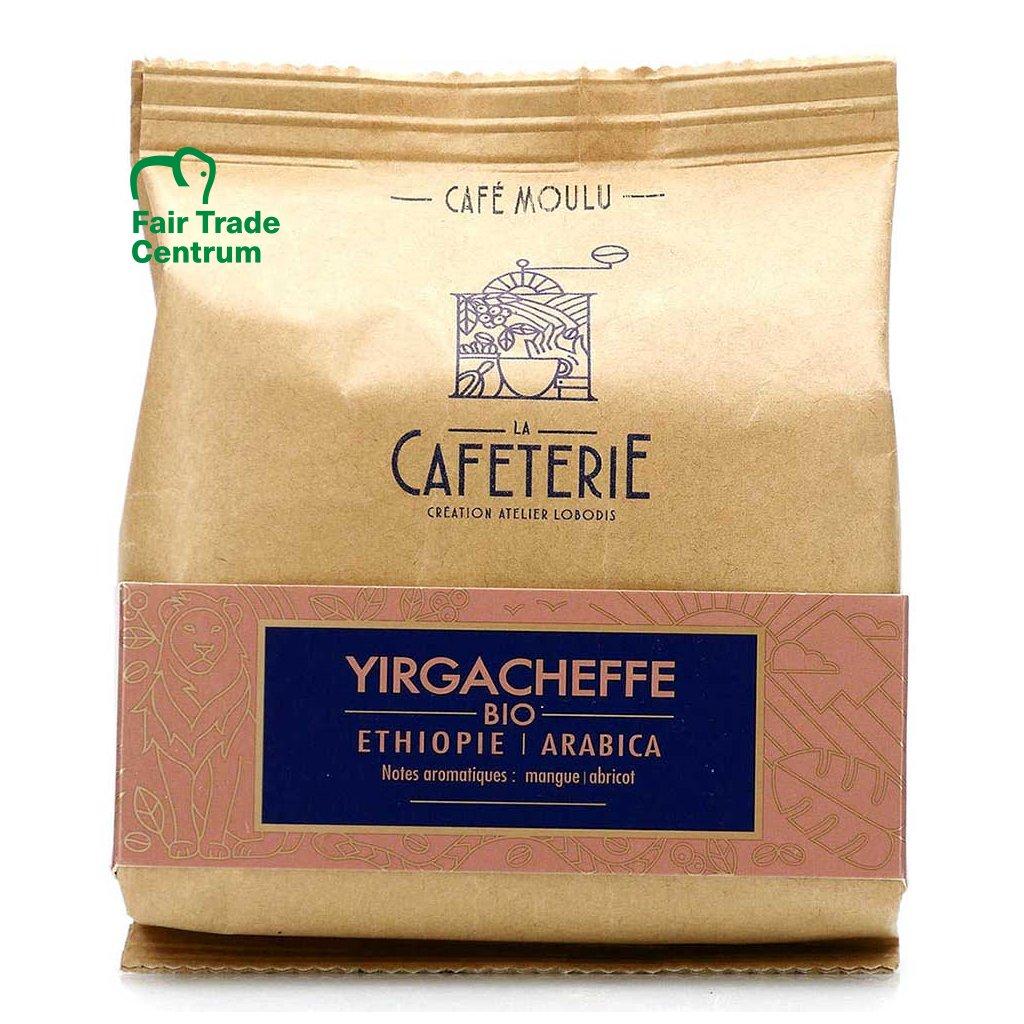 Fair trade bio zrnková výběrová káva Yirgacheffe Beriti z Etiopie, mikrolot, 200 g