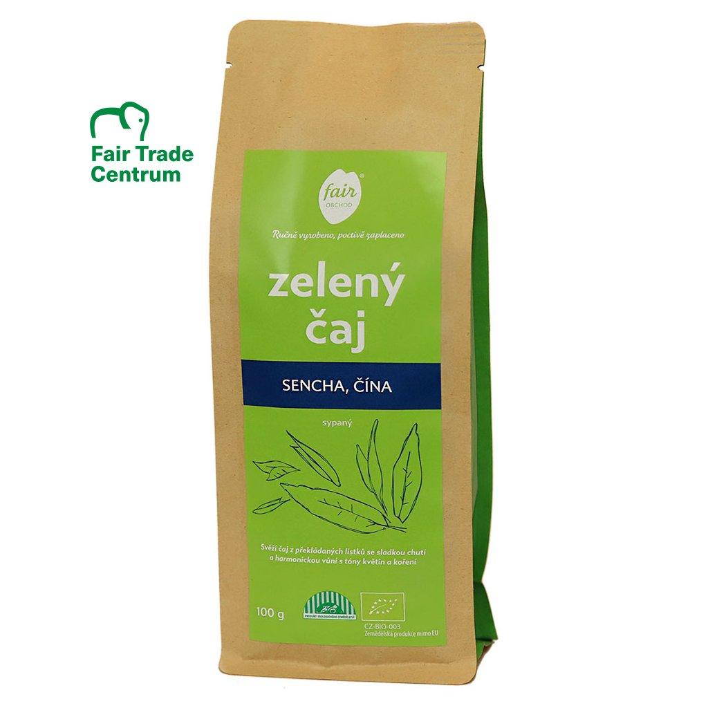 Fair trade bio zelený čaj Sencha z Číny, sypaný, 100 g