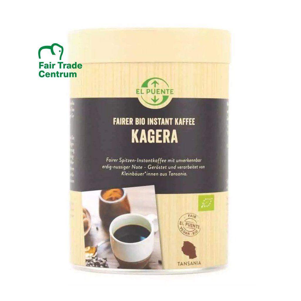 Fair trade bio instantní káva Kagera z Tanzanie, 120 g