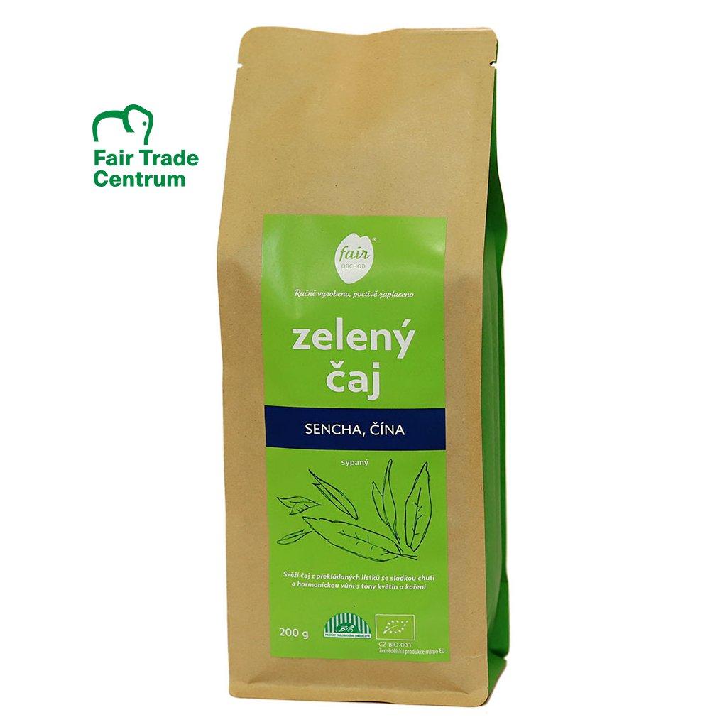 Fair trade bio zelený čaj Sencha z Číny, sypaný, 200 g