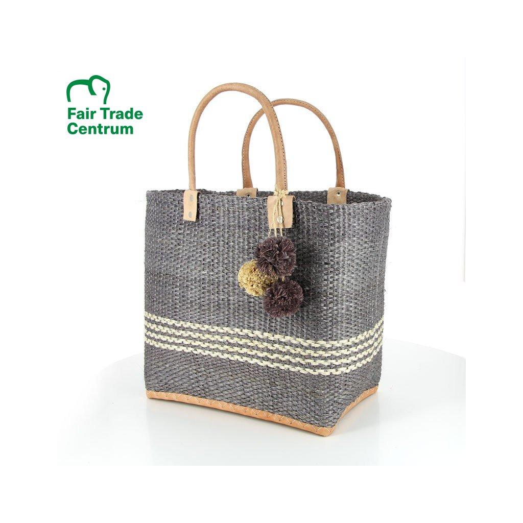 Fair trade ručně dělaná sisalová taška Cannes z Madagaskaru