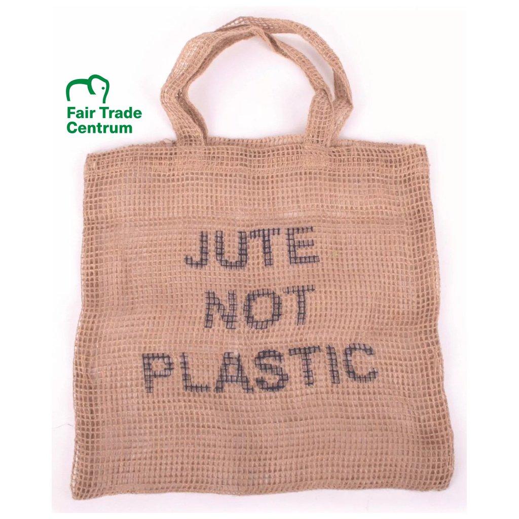Ručně dělaná fair trade nákupní taška Juta místo plastu z Bangladéše