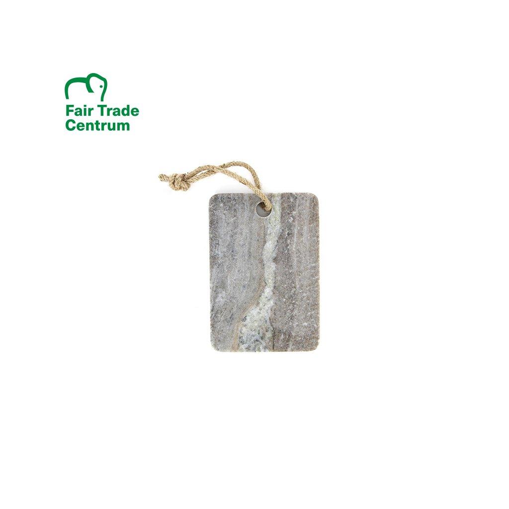 Fair trade servírovací a krájecí mramorové prkénko z Indie, 21 cm