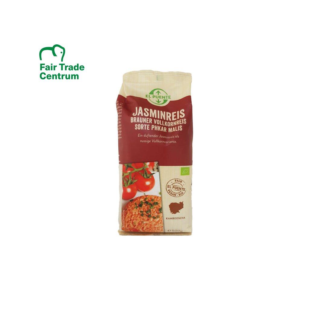 Bio jasmínová rýže hnědá, 450 g