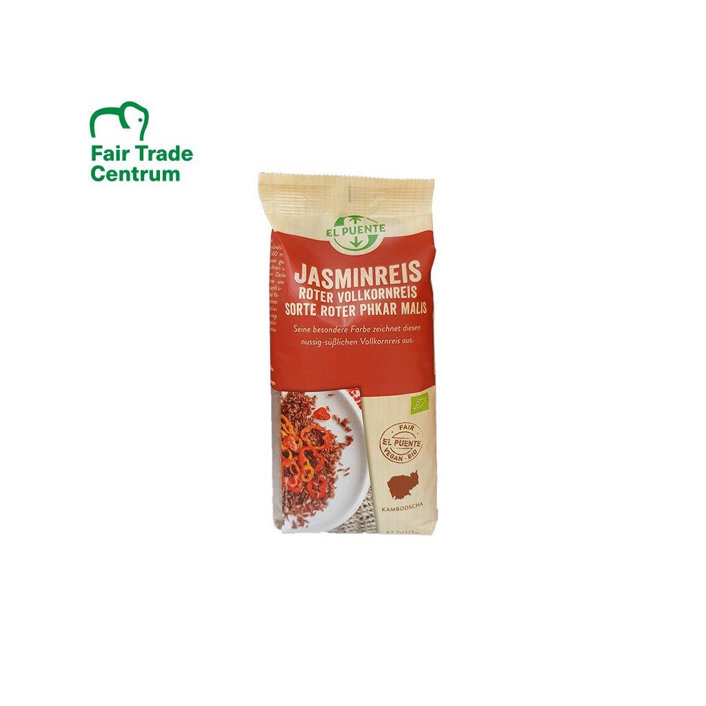 Bio jasmínová rýže červená, 450 g