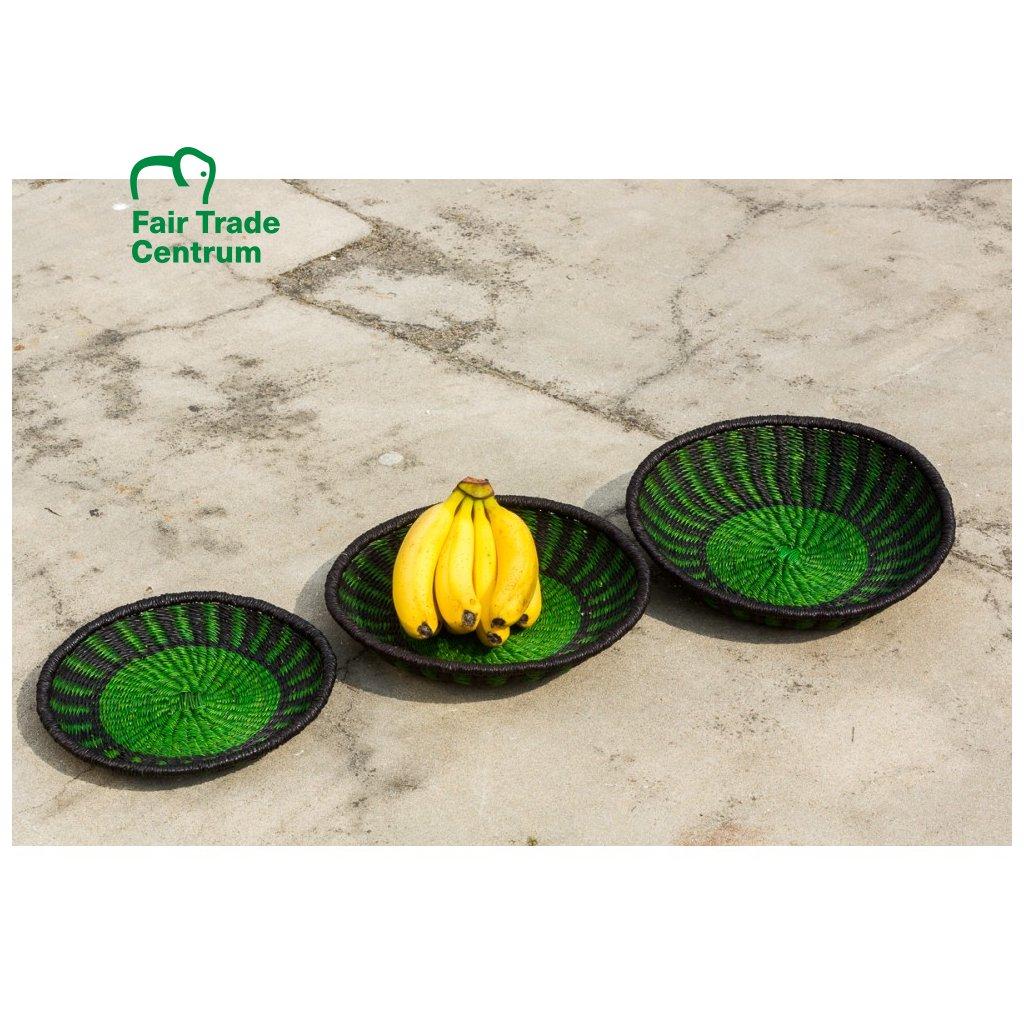 Fair trade ošatka na ovoce z Ghany, velká, zelená