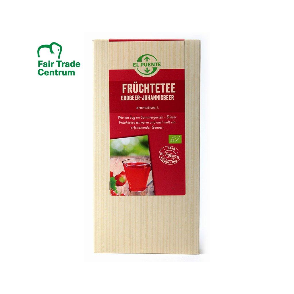 Bio ovocný jahodovo-rybízový čaj sypaný, 120g