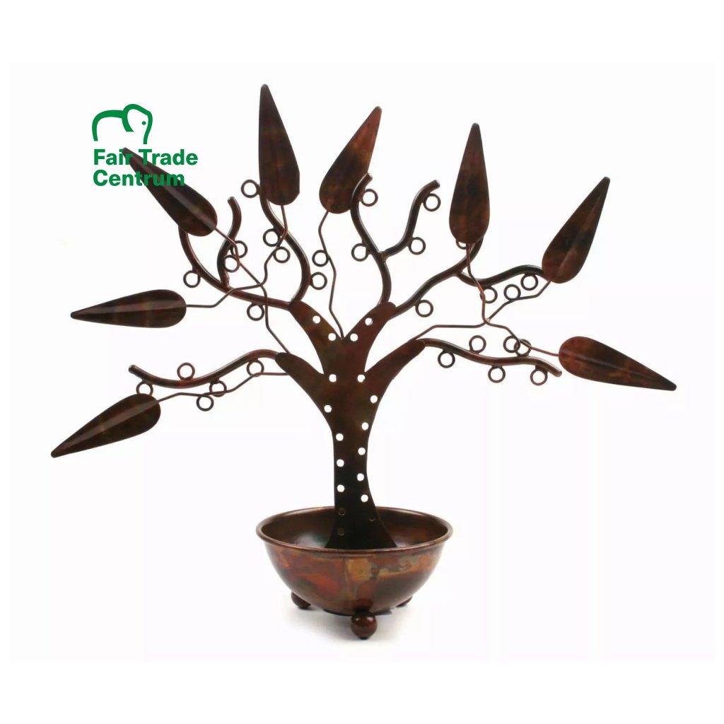 Fair trade stojan na šperky Strom klenotů z Indie, 30 cm