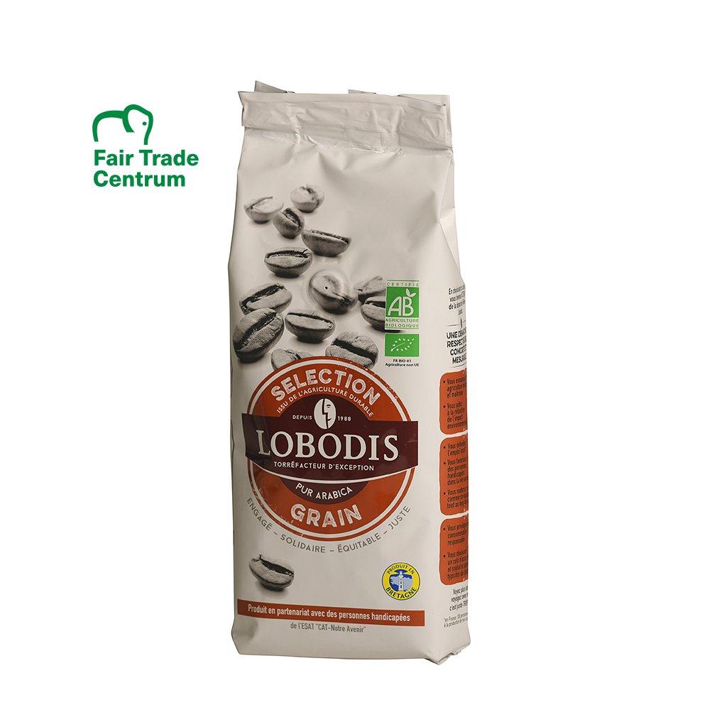 Bio zrnková výběrová káva Lobodis, 250 g
