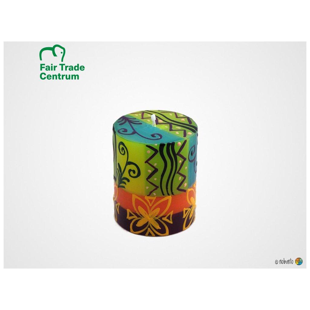 Nobunto Fair trade sloupková svíčka Matuko z Jižní Afriky, 10 cm