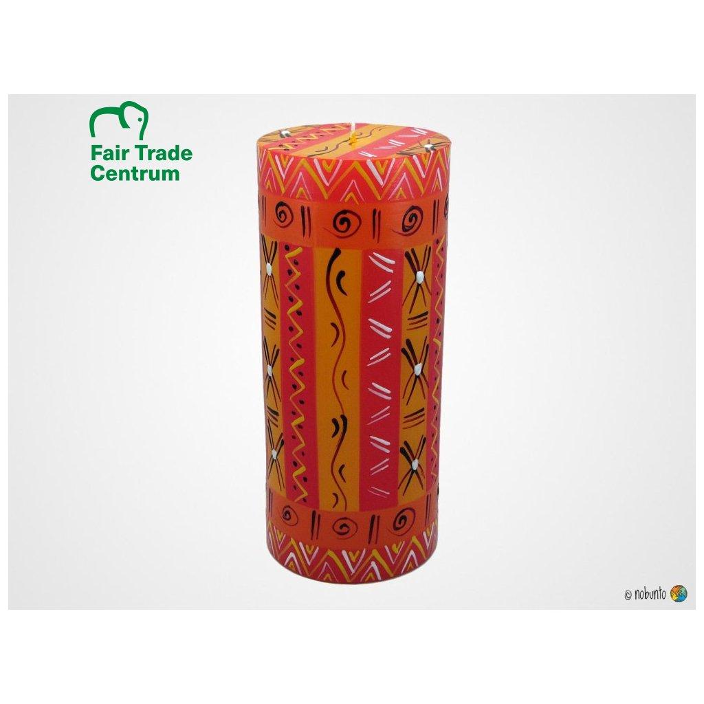 Nobunto Fair trade sloupová svíčka Zahabu z Jihoafrické republiky, 8 x 20 cm