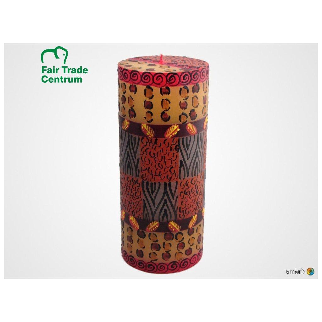 Nobunto Fair trade sloupová svíčka Uzima z Jižní Afriky, 8 x 20 cm