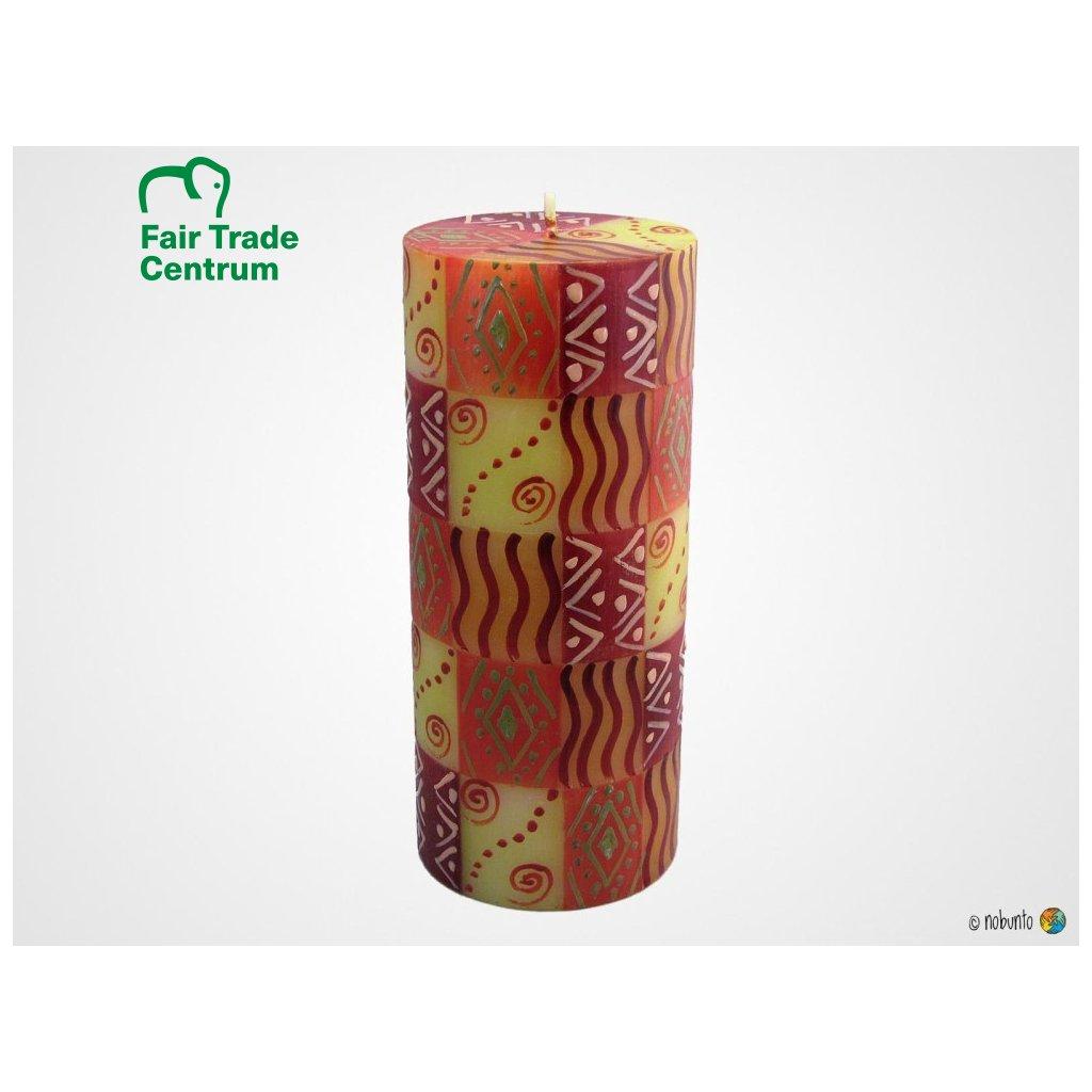 Nobunto Fair trade sloupová svíčka Penzima z Jihoafrické republiky, 8 x 20 cm
