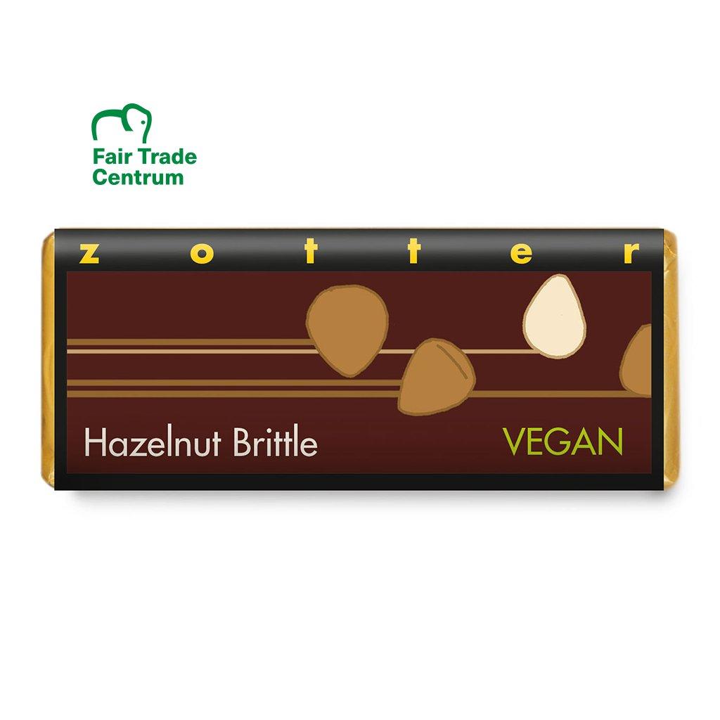 Fair trade bio hořká vegan čokoláda Zotter Lískové oříšky, 70 g