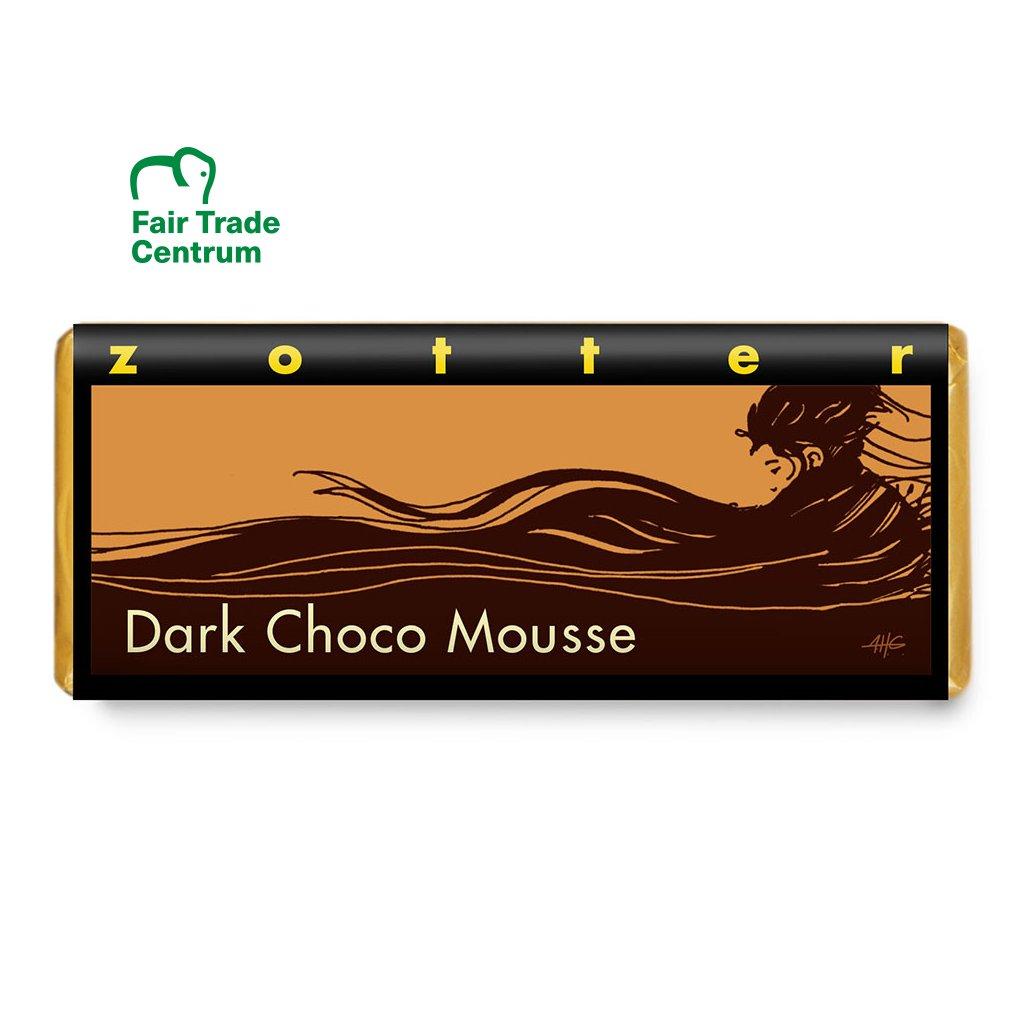 Fair trade bio hořká čokoláda Zotter Čokoládová pěna, 70 g