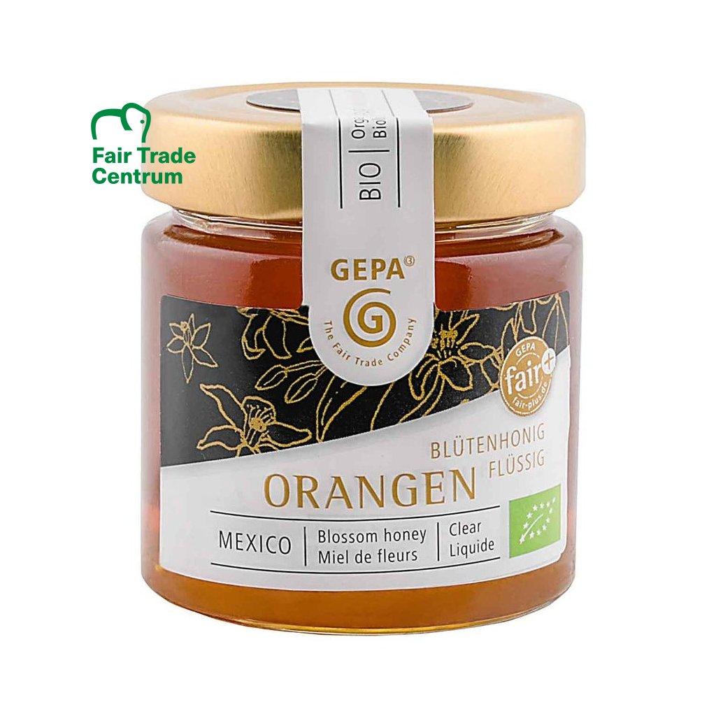 Fair trade bio květový med z pomerančovníků, tekutý, 250 g