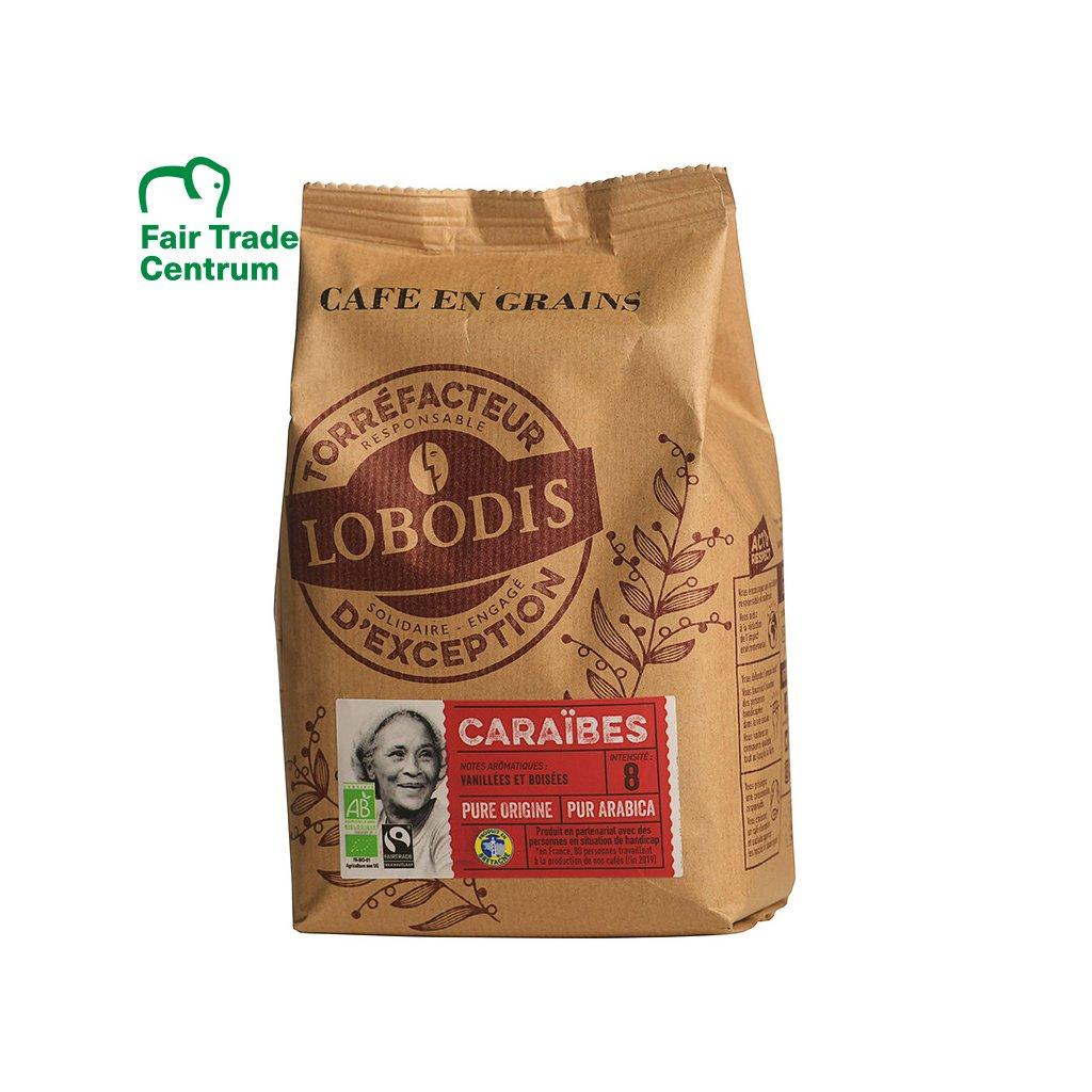 Bio zrnková káva z Karibiku, 500 g