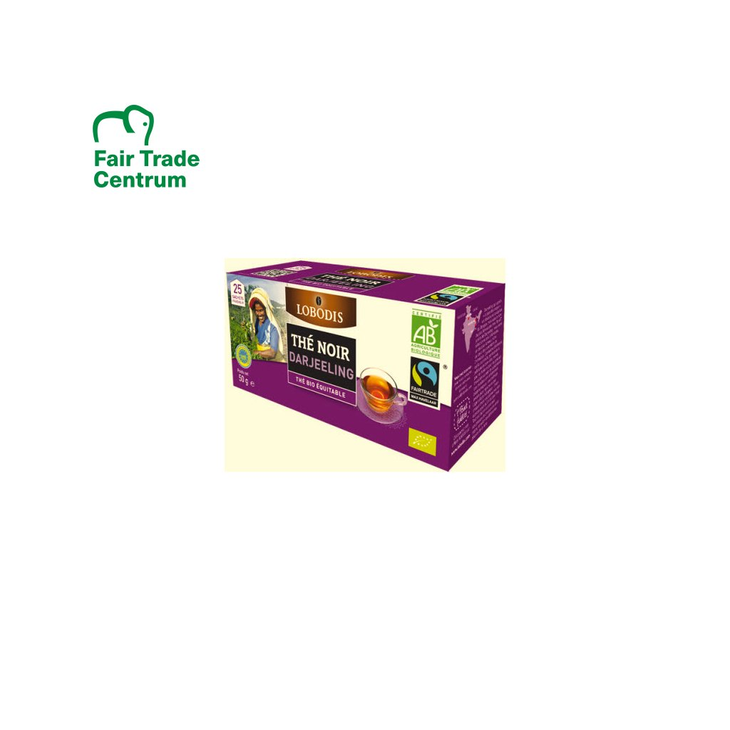 Bio černý čaj Darjeeling Ambootia, porcovaný 25x2 g