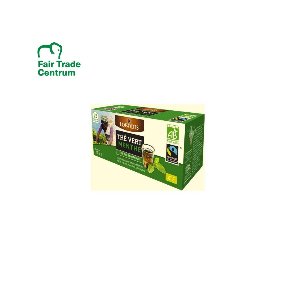Bio indický zelený čaj s mátou, porcovaný 25x2 g