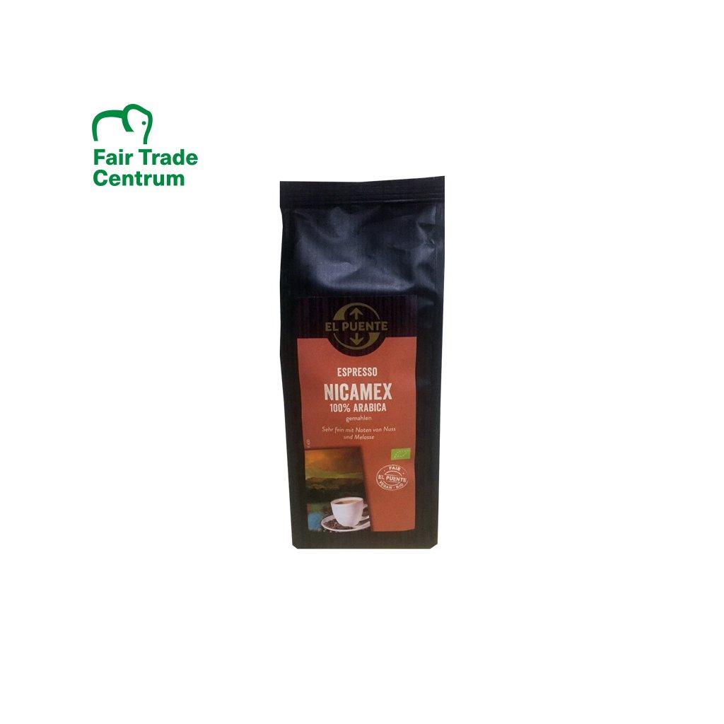 Bio mletá káva Nicamex espresso, 250 g