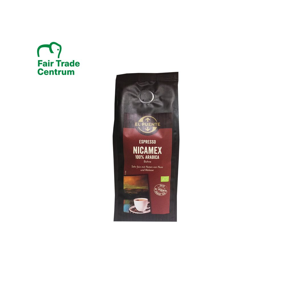 Bio zrnková káva Nicamex espresso, 250 g