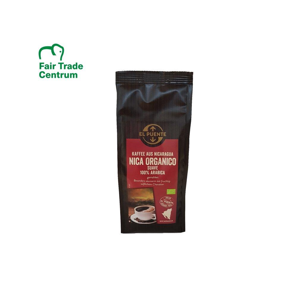 Bio mletá káva Nicaragua Suave zbavená kyselosti, 250 g