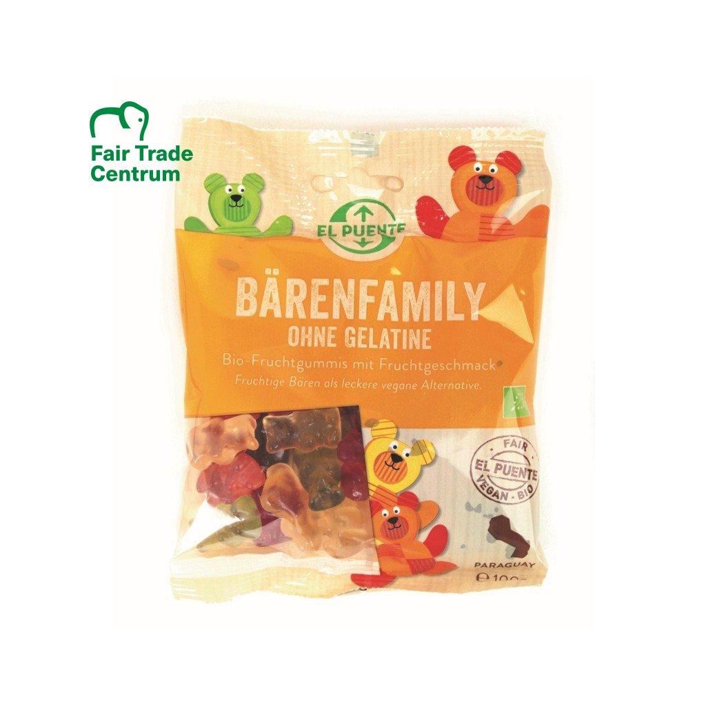 Fair trade bio gumoví medvídci bez želatiny z Paraguaye
