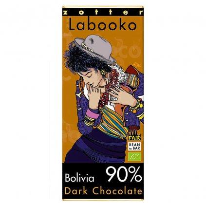 Fair trade bio hořká čokoláda Zotter Bolívie 90 %
