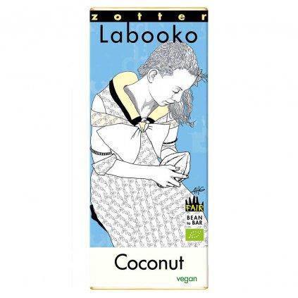 Fair trade bio kokosová čokoláda Zotter
