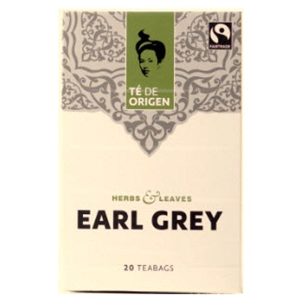 Bio černý čaj Earl Grey, porcovaný 20 x 2 g