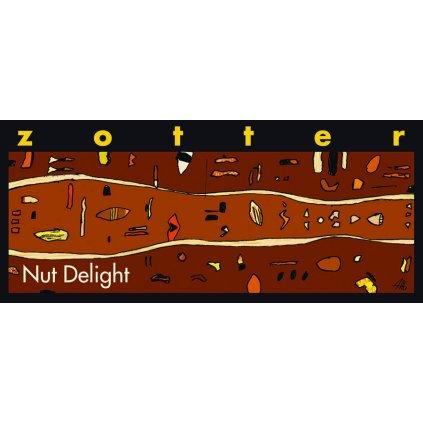Fair Trade bio mléčná čokoláda Zotter Oříškové potěšení