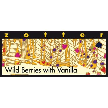 Fair Trade bio mléčná čokoláda Zotter Divoké plody s vanilkou