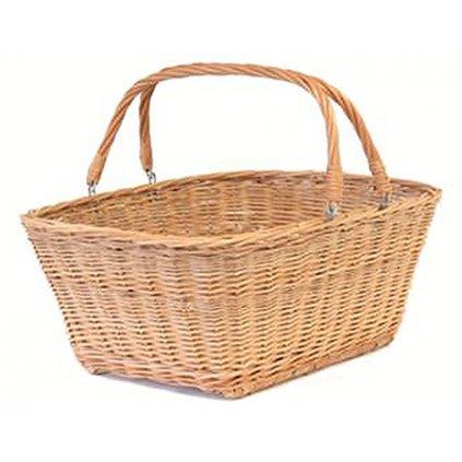 Fair Trade vrbový proutěný nákupní košík, světlejší