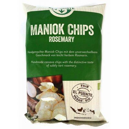 Fair Trade bio maniokové chipsy s rozmarýnem, 30 g