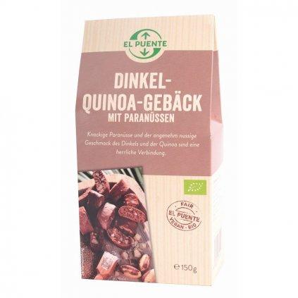 Fair trade bio špaldové sušenky s quinoou a para ořechy, 150 g