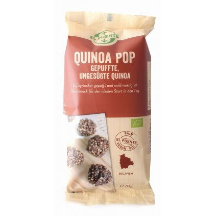 Fair Trade bio quinoa pop z Bolívie, 70 g