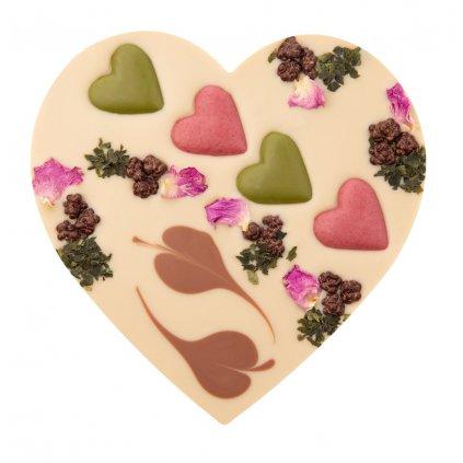 Fair Trade bio čokoládové srdce Zotter s ořechovým nugátem