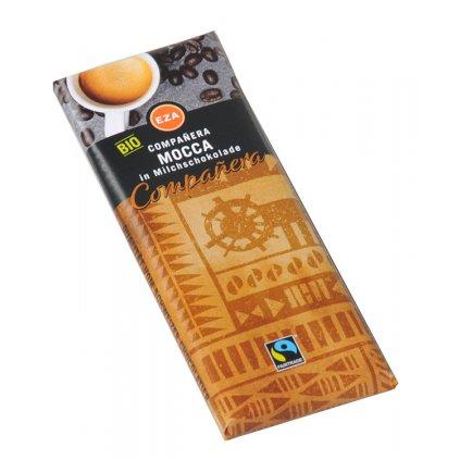 Fair Trade bio mléčná čokoládka s kávou