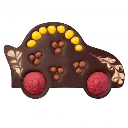 Fair trade bio čokoládové auto s nugátem Zotter