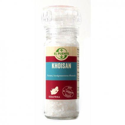 Fair trade mořská sůl Khoisan v mlýnku z JAR, 95 g
