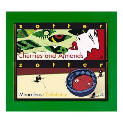 Dárková krabička Zotter zelená na 2 čokolády