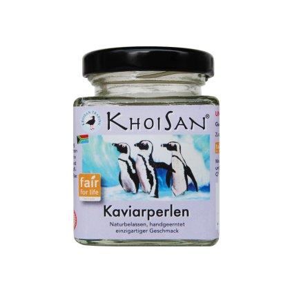 Fair Trade mořská sůl KhoiSan kaviár perly Fleur de Sel