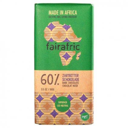 Fair trade hořká čokoláda 60 % vyrobená v Ghaně, 100 g