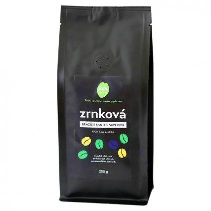 Fair trade zrnková káva Brazílie Santos Superior, 250 g