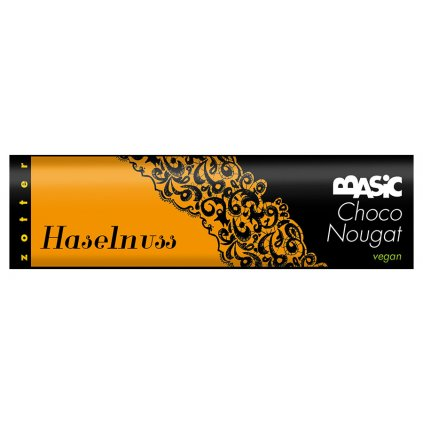 Fairtrade bio čokoládový nugát Zotter s lískovými oříšky, 130 g