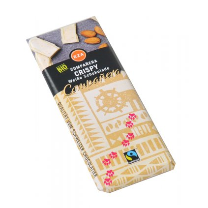 Fairtrade bio bílá čokoládka s křupinkami, 50 g