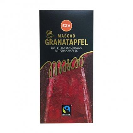 Bio hořká čokoláda s granátovým jablkem, 100 g