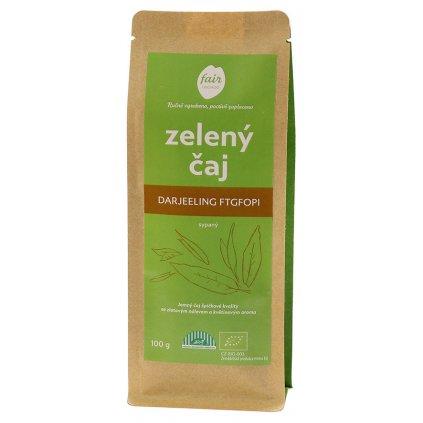 Fair trade sypaný bio zelený čaj Darjeeling FTGFOP1, 100 g