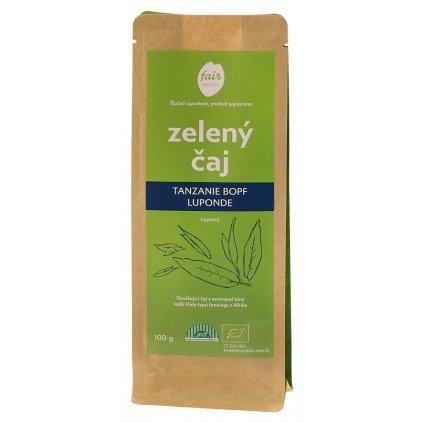 Fair trade bio zelený čaj Tanzanie BOPF Luponde sypaný, 100 g