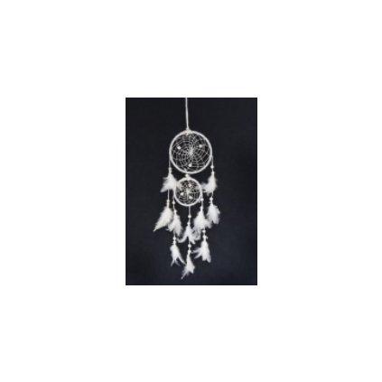 Fair trade bílý lapač snů z Nepálu, 34 cm